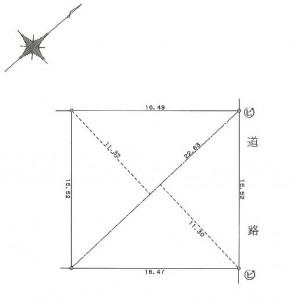 香取市岩ヶ崎台18-9測量図