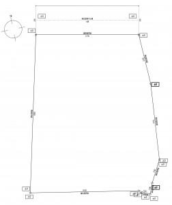 浜宿区売地現況測量図トリミング